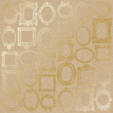 "Embossed paper sheet ""Golden Frames Kraft"""