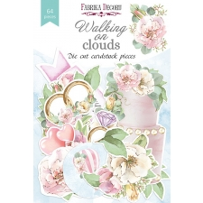 "Set of die cuts ""Walking on Clouds"", 64 pcs"