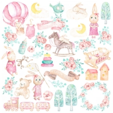 "Decorative sheet for cutting ""Dreamy Baby Girl"""