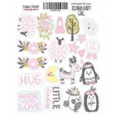 "Kit of stickers #034, ""Scandi Baby Girl"""