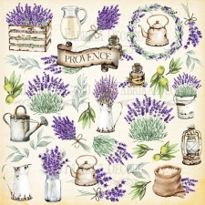 "Sheet of images for cutting. Collection ""Lavender Provence"""