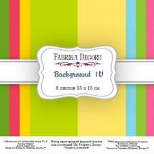 "Набор скрапбумаги ""Backgrounds 4"", 15x15см, Фабрика Декору"