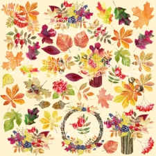 "Decorative sheet for cutting ""Botany Autumn 1"""