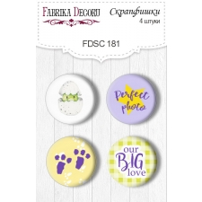 Flair buttons. Set of 4pcs #181