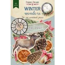 "Set of die cuts ""Winter Wonders"", 61 pcs"