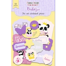 "Set of die cuts ""My Little Baby Girl 1"", 50 pcs"