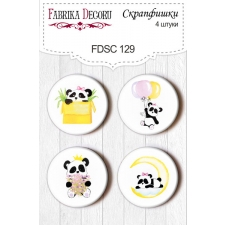 "Flair buttons. Set of 4pcs #129 ""My Little Baby Girl"""