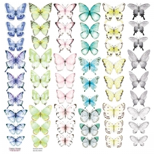 "Decorative sheet for cutting ""Butterflies 3"""