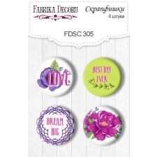 Flair buttons. Set of 4pcs #305