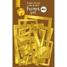 """Paberist kuldfooliumiga raamide komplekt №2 """"Kuld"""" 50шт"""