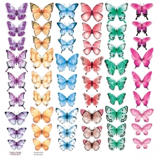 "Decorative sheet for cutting ""Butterflies 4"""