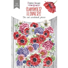 "Set of die cuts ""Summer Flowers"", 52 pcs"