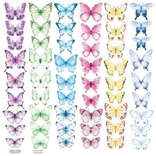 """Лист с картинками для вырезания """"Бабочки 6"""""""