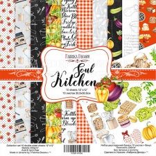 "Double-sided scrapbooking paper set ""Soul Kitchen"", 12""x 12"" , Fabrika Decoru"