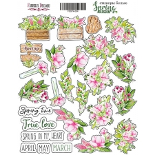 "Kit of stickers #004, ""Spring blossom"""