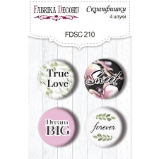 Flair buttons. Set of 4pcs #210