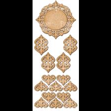 MDF dekoratiivelementide komplekt #102