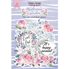 "Set of die cuts ""Mysterious garden"", 63 pcs"
