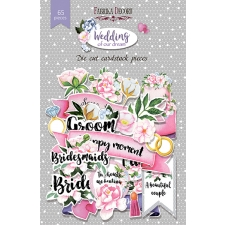 """Set of die cuts """"Wedding of our dream"""", 65 pcs"""
