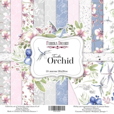 "Double-sided scrapbooking paper set  ""Tender orchid"", 8""x 8"" , Fabrika Decoru"