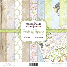 "Double-sided scrapbooking paper set ""Smile of spring"", 8""x8"", Fabrika Decoru"
