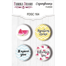 "Flair buttons. Set of 4pcs #164 ""Tropical Paradise"""