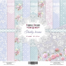 "Double-sided scrapbooking paper set ""Shabby Dreams"", 8""x8"""