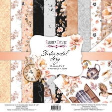 "Double-sided scrapbooking paper set ""Sentimental Story"", 8""x 8"", Fabrika Decoru"