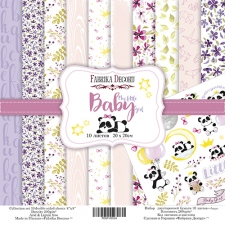 "Double-sided scrapbooking paper set ""My Little Baby Girl"", 8""x8"""
