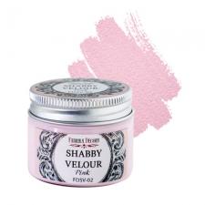Краска шебби велюр, цвет Розовый