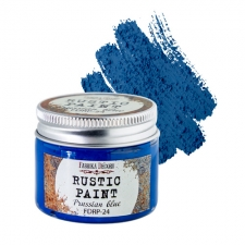 Rustic paint. Color Prussian blue