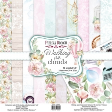 "Double-sided scrapbooking paper set ""Walking on Clouds"", 8""x 8"", Fabrika Decoru"