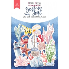 "Set of die cuts ""Sea Soul"", 66 pcs"