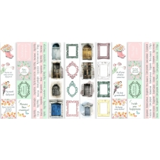 "Set of stripes with pictures for decoration ""Scent of Spring"""