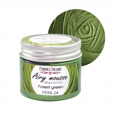 Airy mousse metallic. color Forest green