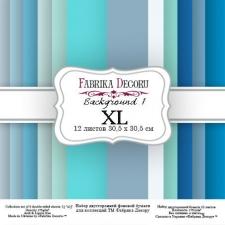 "Double-sided scrapbooking paper set ""Backgrounds 1 XL"", 12""x 12"" , Fabrika Deсoru"