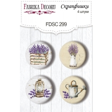 "Flair buttons. Set of 4pcs #299 ""Lavender Provence"""