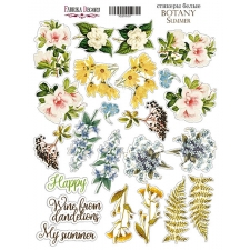"Kit of stickers #011, ""Botany summer"""