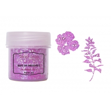 Embossing powder with glitter. Color Purple boom