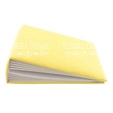 "Blank album with a soft fabric cover ""Sun yellow"""