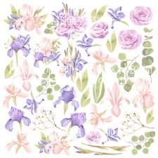 "Decorative sheet for cutting ""Majestic Iris"""