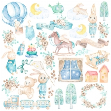 "Decorative sheet for cutting ""Dreamy Baby Boy"""