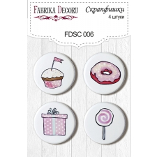 Flair buttons. Set of 4pcs #006