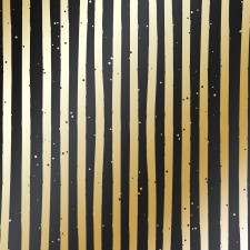 "Disainpaberi leht kuldse mustriga ""Golden Stripes Black"""