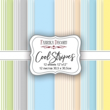 "Double-sided scrapbooking paper set ""Cool Stripes"", 12""x12"""
