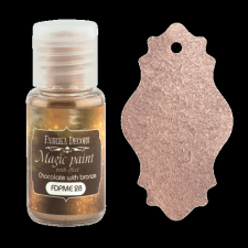"Dry paint ""Magic paint with effect"" color ""Chocolate with bronze"", 15ml"