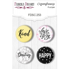 Flair buttons. Set of 4pcs #253