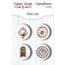 "Flair buttons. Set of 4pcs #420 ""Journey to Provence"""