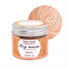 Airy mousse metallic. color Peach
