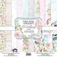 "Double-sided scrapbooking paper set ""Walking on Clouds"", 12""x 12"", Fabrika Decoru"